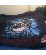 yr 2000 MLB Baseball Cleveland Indians Team T-Shirt Lg-XLarge black - Wahoo - $19.79