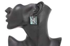 Women Earrings Western Fashion Jewelry Vintage Metal Turquoise Blue Silv... - $24.54