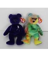 Ty Beanie babies bears Garcia and princess Diana with tags - $27.72