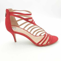 Vince Camuto Womens Petronia Gladiator Sandals Red Zipper Slim Heels 7.5W NEW - $49.49
