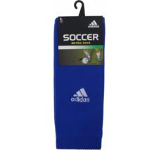 ADIDAS Metro III Soccer Socks sz L Large (9-13) Cobalt White - $12.85