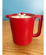 Vintage Tupperware Pitcher With Lid 1575-4 Red - $14.80