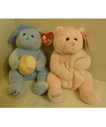 "TY Beanie Babies Set of ""Baby Girl"" & ""Baby Boy"" Beanies - $12.98"