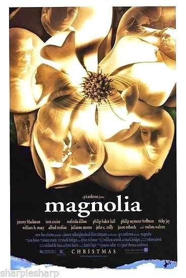 2 MAGNOLIA Movie POSTERS 11x17 Frogs & 13x20.5 Flower P.T. Anderson NEW