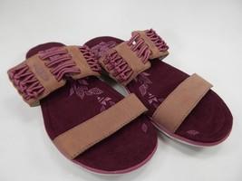 Keen Maya Strappy Women's Slide Sandals Size US 7 M (B) EU 37.5 Maroon Brown