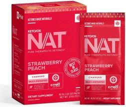 Pruvit keto os Strawberry peach charged with caffeine fat burner fast en... - $129.00