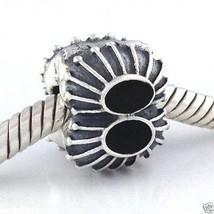 Auténtico Pandora Dos de una Clase Esmalte Negro Clip Charm 790578en16 N... - $41.02