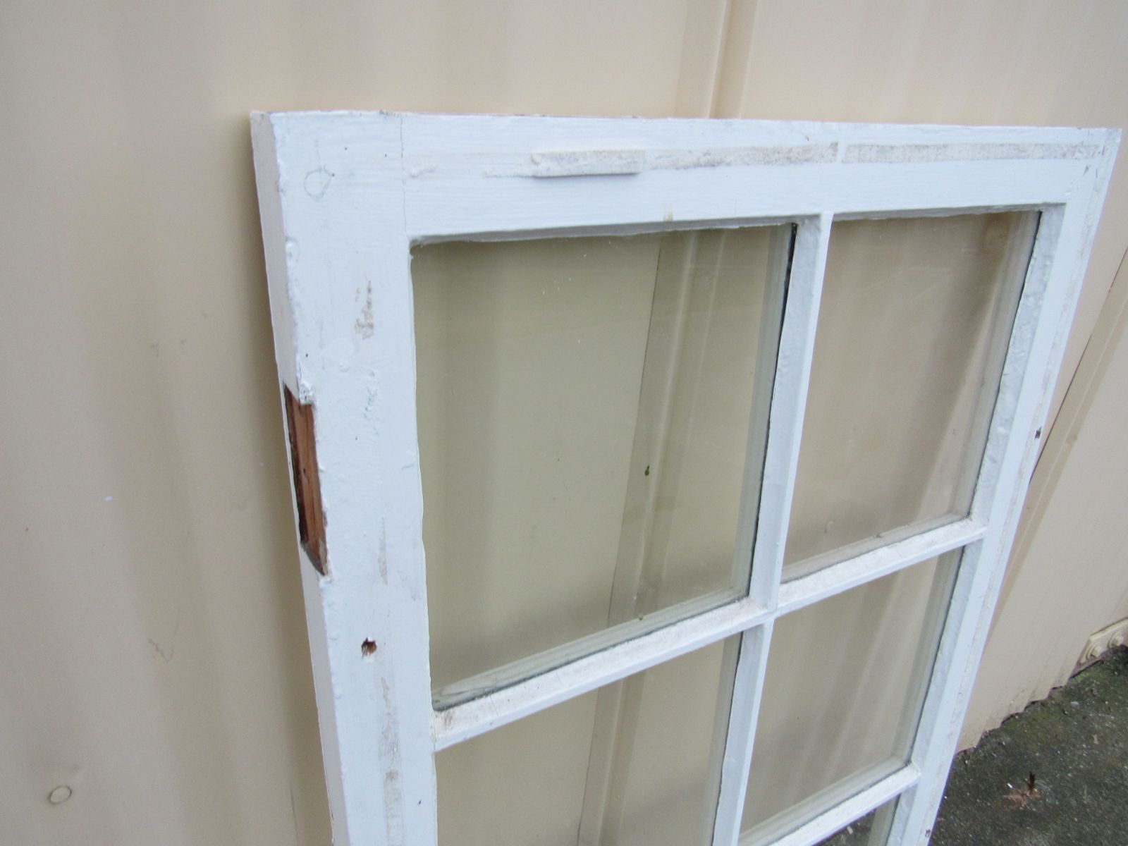 Handcrafted Antique Exterior True Divided Window Type E 37 1/2in x 24in Wood