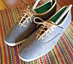 KEDS Women's Wool Felt Leather Trimmed Sneakers 8.5 bx59 - $23.71