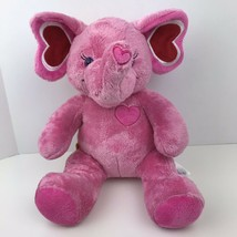 Build A Bear Pink Elephant With Hearts Plush Stuffed Animal - $23.76