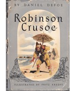 ROBINSON CRUSOE (1946) Daniel Defoe Full-Color Photos + illustrations HC/DJ - $19.99