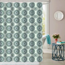 "Ashley Green Mandala Pattern Fabric Bathroom Shower Curtain 70""x72"" - $15.29"