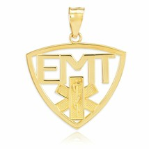 10K Yellow Gold Emergency Medical Technician (EMT) Star of Life Charm Pe... - $109.90