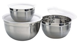 Dozenegg Stainless Steel Mixing Bowls with Lids, Set of 3 - €20,81 EUR