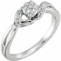 Diamond Cluster Promise Ring In 10K White Gold (1/8 ct. tw.) - $346.49