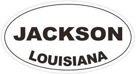 Jackson Louisiana Oval Bumper Sticker or Helmet Sticker D3946 - $1.39+