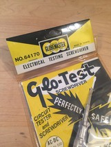 Vintage Globemaster Glo-Test electrical testing screwdriver in original package image 5