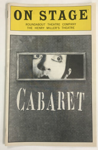Primary image for Cabaret On Stage program Roundabout Theater Co. Henry Miller's Theatre