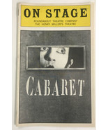 Cabaret On Stage program Roundabout Theater Co. Henry Miller's Theatre - $74.40