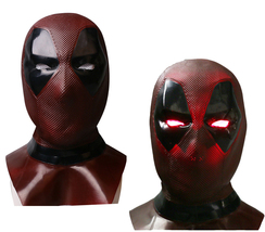 LED Glowing Eye Lights 2018 Deadpool 2 Full Face Mask Cosplay Balaclava Prop - £21.87 GBP