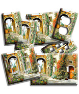 RUSTIC TUSCAN VILAGE COURTYARD FLOWERS LIGHT SWITCH OUTLET WALL PLATES A... - $8.99+