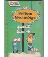 Mr. Pine's Mixed Up Signs 1961 Wonder Books Easy Reader Leonard Kessler - $11.87