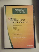 Microsoft Office Home & Student 2007 GENUINE retail 3user service desk - $17.99
