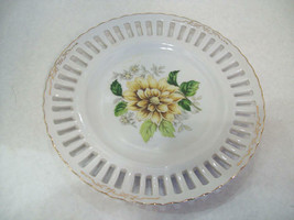 Vintage Made in Japan Dessert Plate Floral, Free Shipping 403 D2 - $15.83