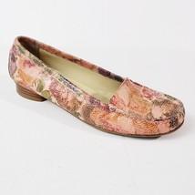 Stuart Weitzman Shoes Loafers Women 8.5M Slip On Moc Skimmer Pink Floral  - $64.99