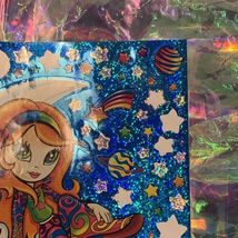 "VINTAGE *JUMBO* 8"" x 11"" Moon Star Girl Hippie Sticker Sheet RARE HTF PRISM image 5"