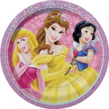 Disney Princess Glow Dessert Plates 8 Per Package Birthday Party Supplie... - $4.16