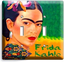 Colorful Portret Frida Kahlo Mexican Artist Double Light Switch Wall Plate Cover - $12.99