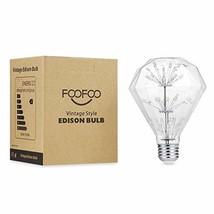 Romantic Retro Starlight Edison Bulb, Diamond Shaped LED Bulb,3W,2200K Warm Yell