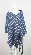 Rebozo or Shawl black and gray combination, handwoven in backstrap loom . - $76.00