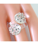 Clear Double Mushroom Acrylic Ring Dotting Cystal Elements Made By Swaro... - $22.77