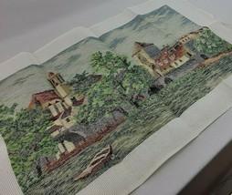 Castle Needlepoint Kit Dritz Landscape XXL Multi Color Tramme Wool Yarn ... - $195.00