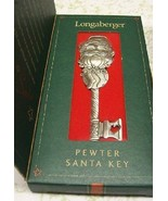 Longaberger 2002 Pewter Christmas Santa Key Collectable Ornament New in ... - $12.82