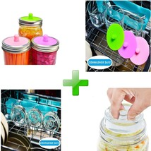 Fermentation Kit For Wide Mouth Jars, 12 Pack-Ferment Glass Weigts+Ferme... - $19.62
