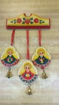 Vintage Christmas Angel  Bells Hanging Door Wall Decoration 3 Bells - $14.84