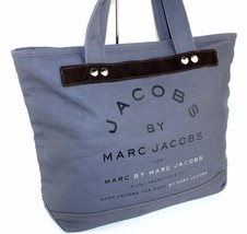 Auth Marc By Marc Jacobs Indigo Cotton Tote Shoppers Hand Shoulder Bag G... - $137.61