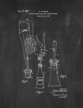 Bottle Stoppers and Liquid Pouring Devices Patent Print - Chalkboard - $7.95+