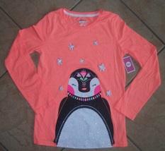 girls top long sleeve size XL 14-16 nwt penguin stars - $17.06