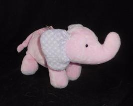 Carter's Just One Year Pink & Purple Elephant Rattle Stuffed Animal Plush Toy - $30.73