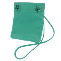 HERMES Sac Aline Mini Veau Swift Vert Verone Shoulder Bag #D France Auth... - $1,830.85