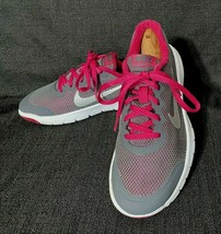 Nike 749818-006 Girls Flex Experience 4 Gray Athletic Running Shoes - Size 5Y - $18.99