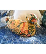 "COLORFUL 9"" x 5.5"" CHINTZ PORCELAIN RESTING DUCK FIGURINE w/felt bottom - $8.99"
