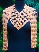 Crochet triangle Shawl, Orange crochet shawl, Summer pure cotton scarf, ... - €22,98 EUR