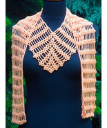 Crochet triangle Shawl, Orange crochet shawl, Summer pure cotton scarf, ... - $25.00