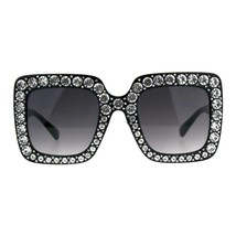 Blinged Out Rhinestone Sunglasses Womens Super Oversized Square Shades - $17.05