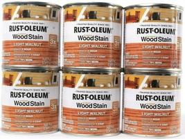 6  Rust-Oleum Ultimate Wood Stain 344728 Light Walnut Dries In 1 Hour Ha... - $21.99